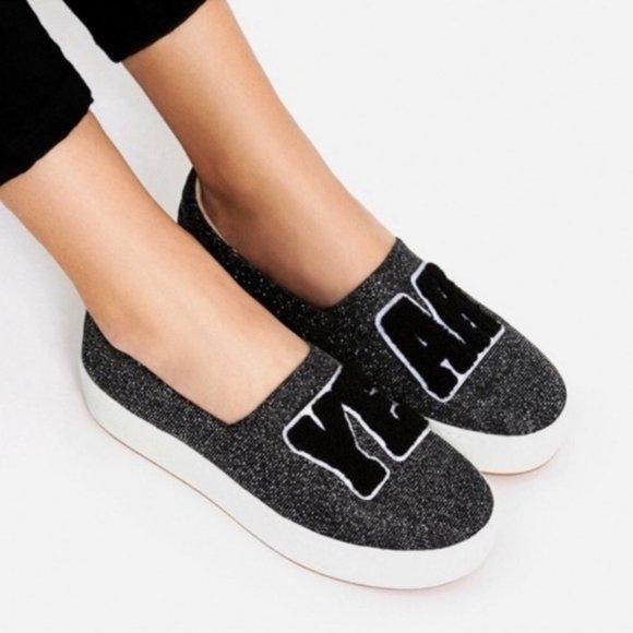 ZARA Yeah Platform Sneakers Flats, Size 6